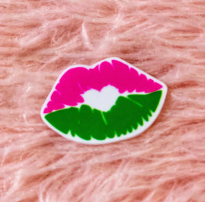 *Resin PLANAR* Pink and Green Lips