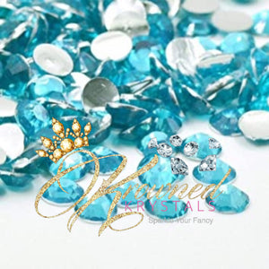 Aquamarine Resin Rhinestones