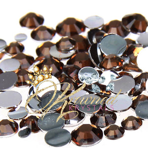 Coffee Brown Resin Rhinestones