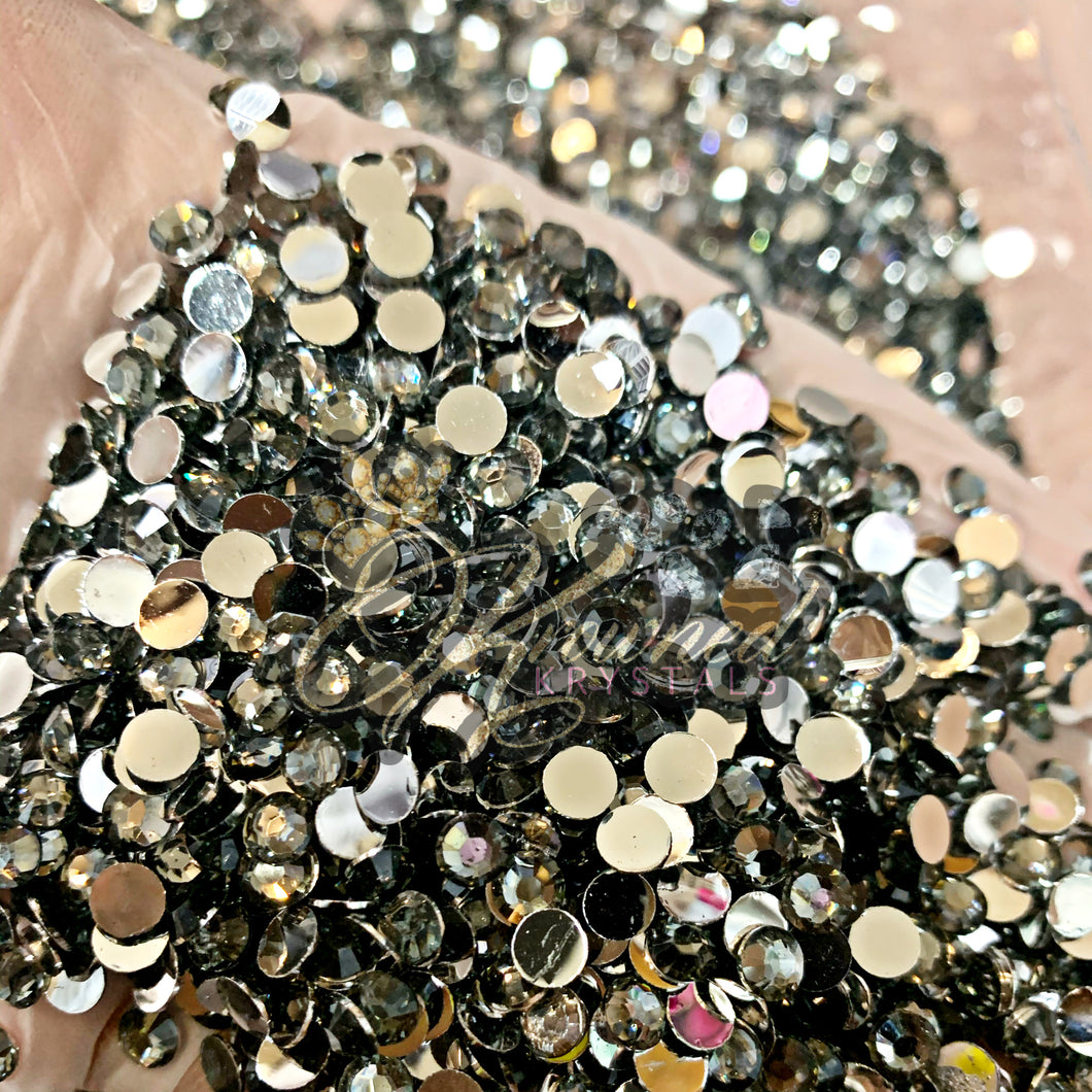 Black Diamond Resin Rhinestones