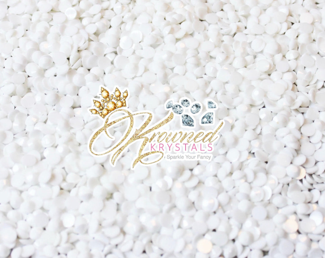 White Jelly Resin Rhinestones