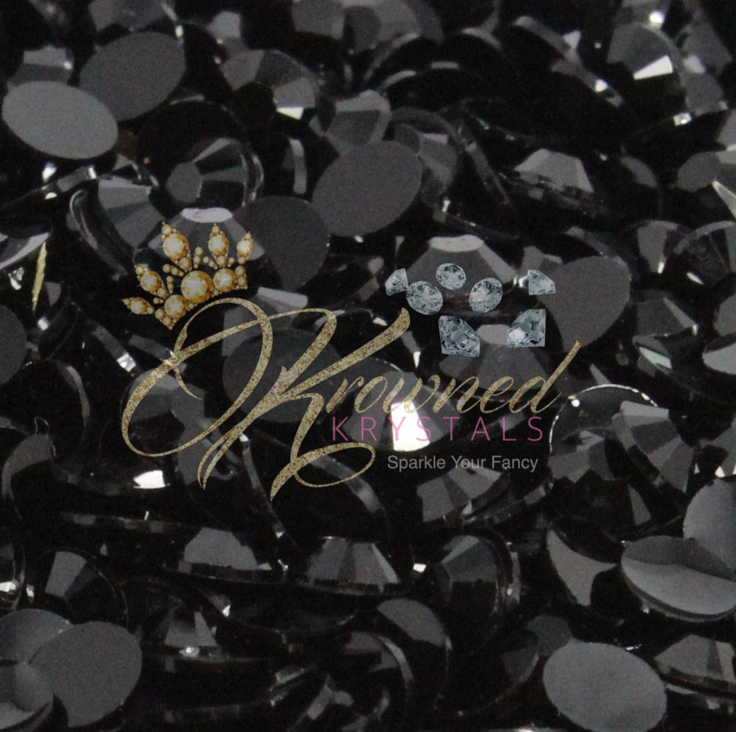 Black Resin Rhinestones
