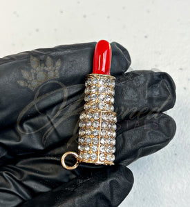 Red Lipstick Bling Alloy