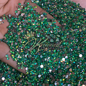 Pear GREEN AB Resin Rhinestones