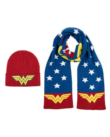 Wonder Woman Beanie and Scarf Combo