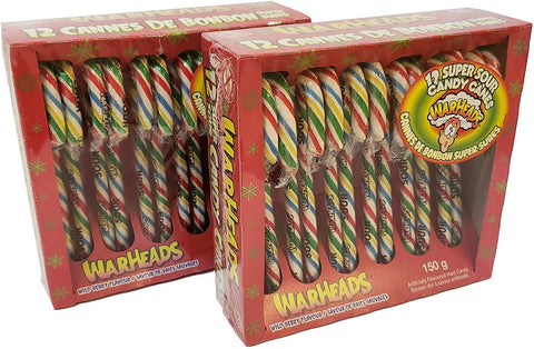 Warhead Sour Candy Canes