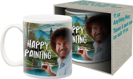 Bob Ross Happy Painting Mug