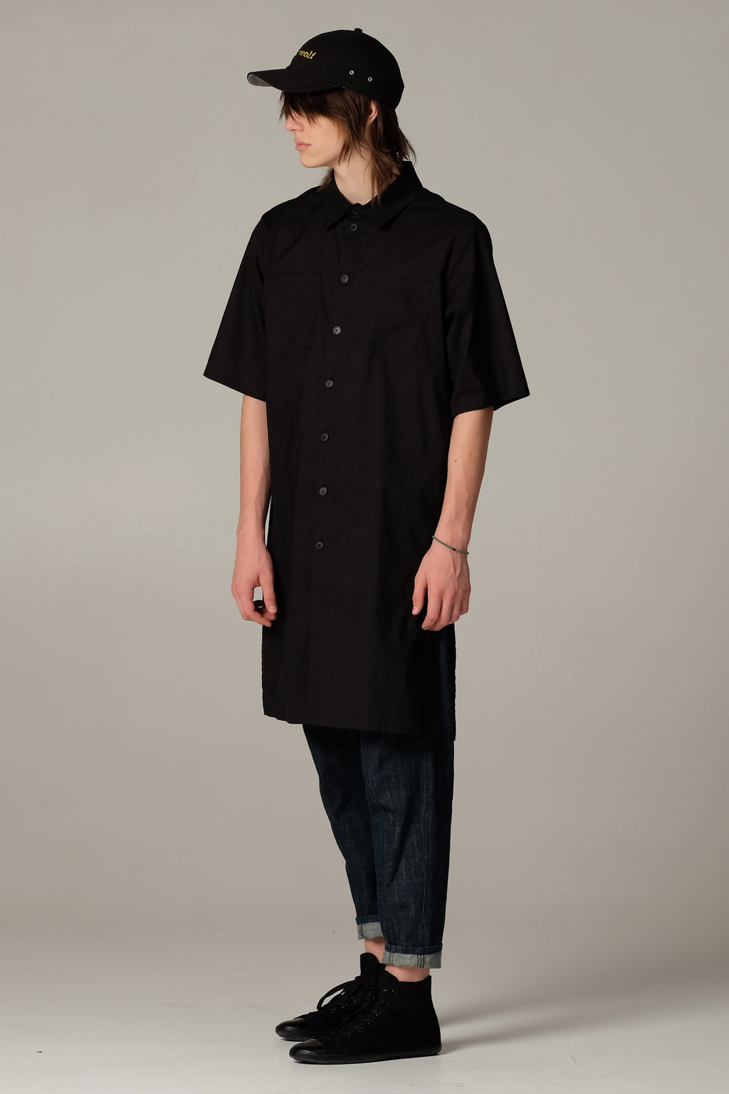OUTSIDER dress black - One Wolf