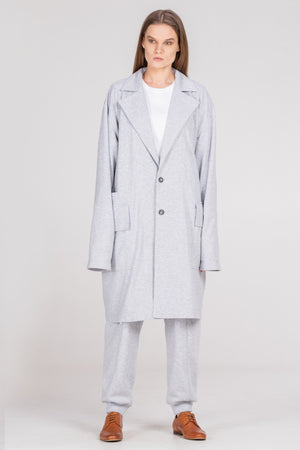 NORMAL oversized soft jacket grey - One Wolf