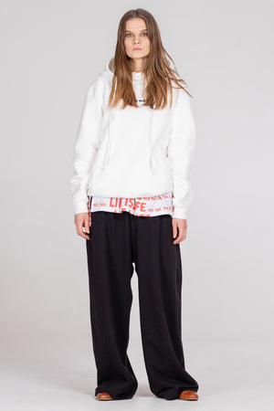 PLAIN unisex hoodie - off-white - One Wolf