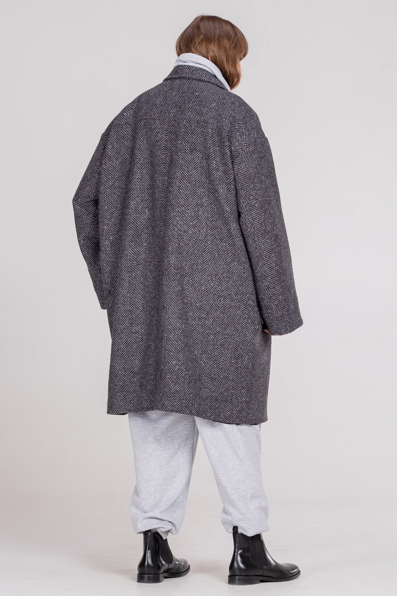 NORMAL LIFE oversized coat - One Wolf