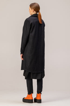 EVERYDAY Denim Shirt-Dress - One Wolf
