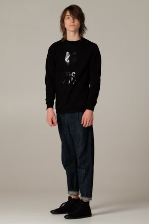 One Wolf logo sweater black/black - One Wolf