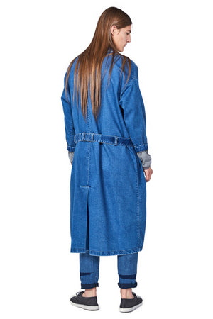 Forgotten Unisex Denim Coat - One Wolf