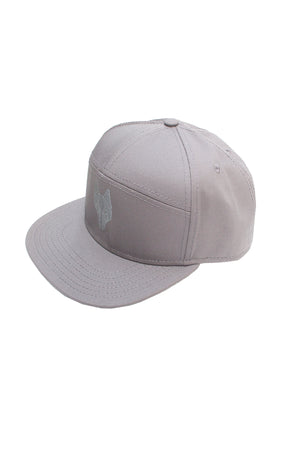 One Wolf Logo Baseball Cap light grey