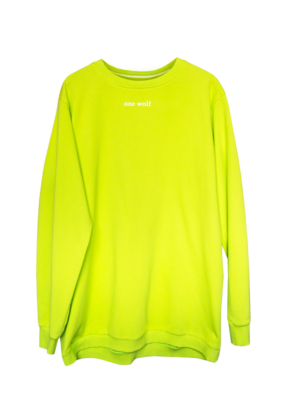 PLAIN sweater lime green - One Wolf