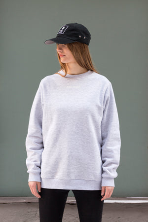 Plain sweater Grey - One Wolf