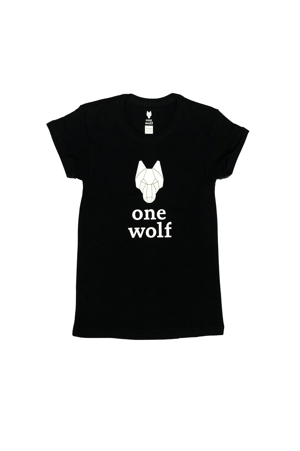 KIDS OW LOGO T-shirt black/white logo - One Wolf