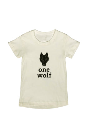 KIDS OW LOGO T-shirt off-white/black logo - One Wolf