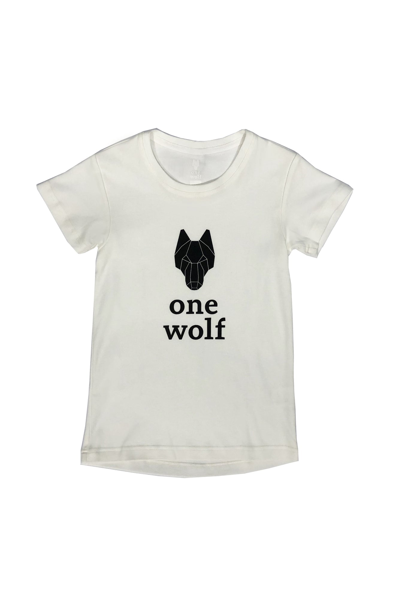 KIDS OW LOGO T-shirt white/black logo - One Wolf