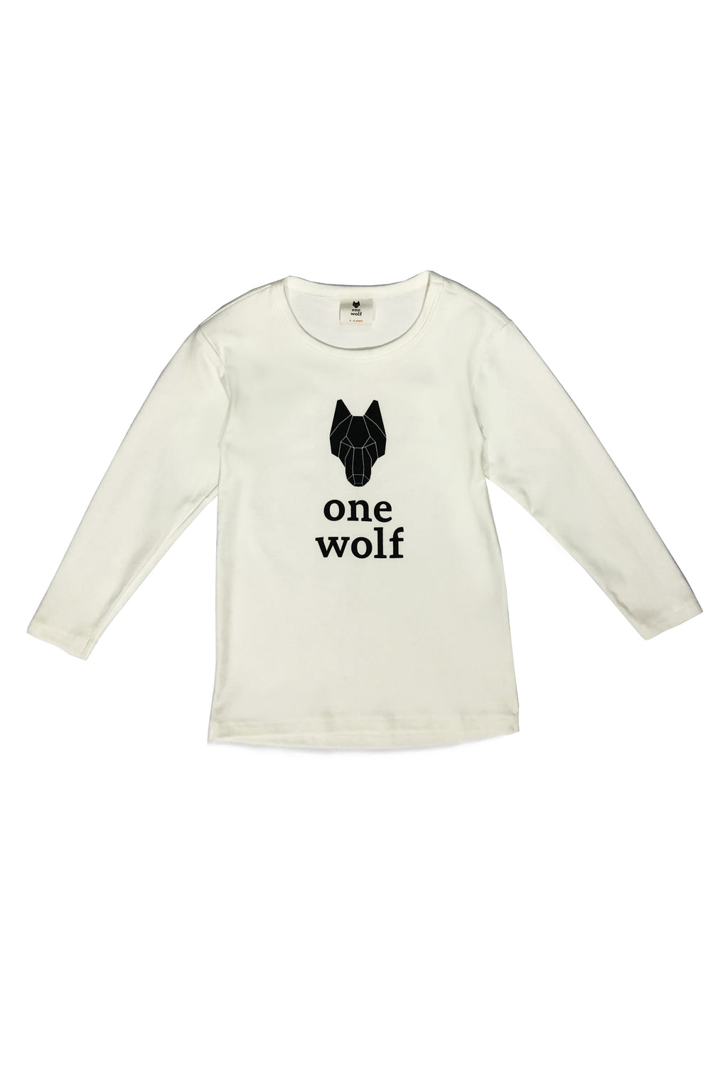 KIDS OW LOGO long sleeve T-shirt off-white/black logo - One Wolf