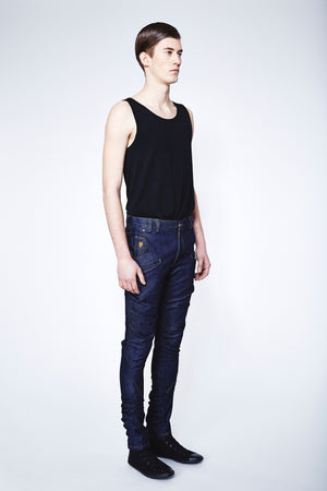 unisex jeans KURT - dark blue - One Wolf