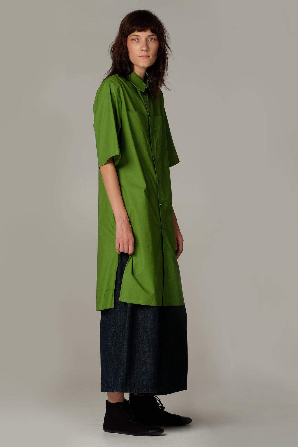 OUTSIDER dress -Plant green - One Wolf