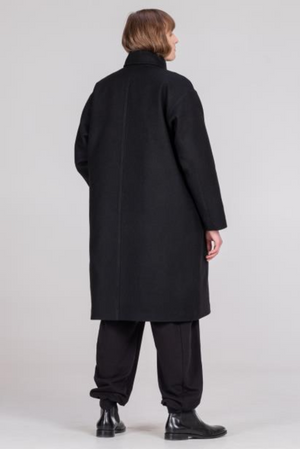 NORMAL black unisex coat