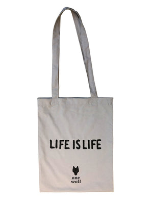 Tote bag LIFE IS LIFE - One Wolf