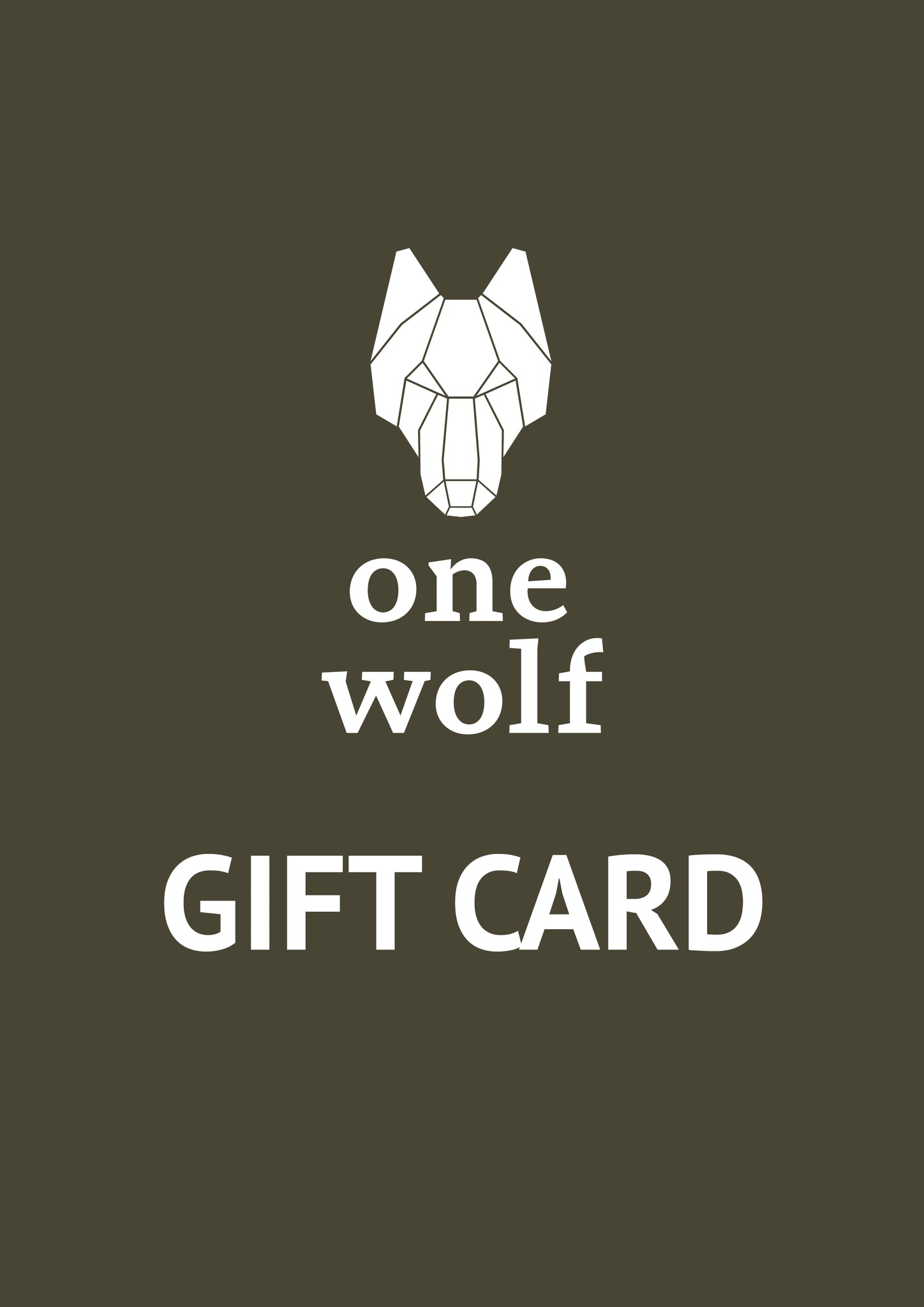 One Wolf Gift Card - One Wolf