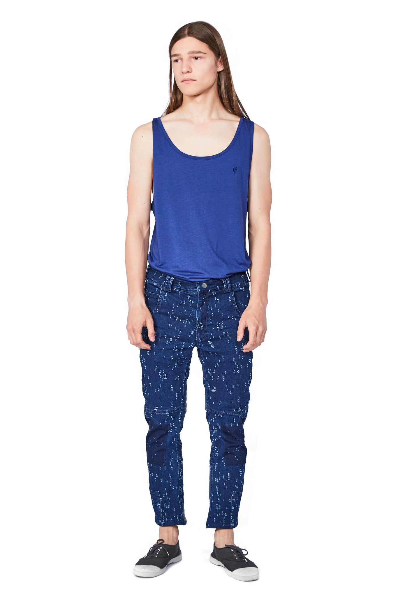 HOLEY unisex jeans - One Wolf