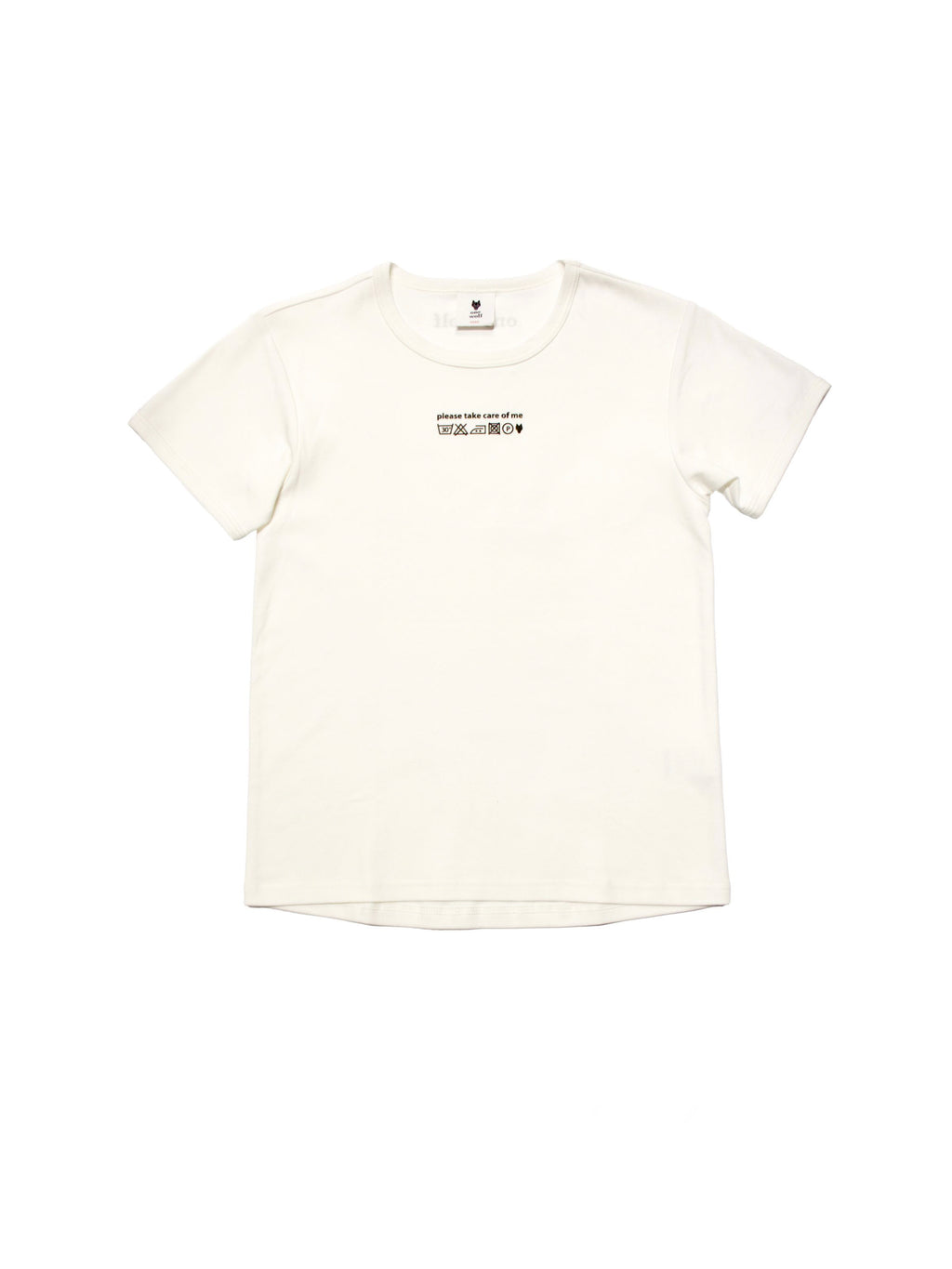 KIDS T-shirt CARE OF ME off-white - One Wolf
