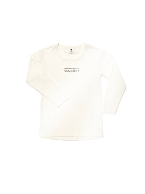 KIDS long sleeves T shirt CARE OF ME off-white - One Wolf