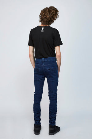 unisex jeans KURT - treated blue - One Wolf