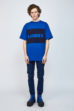 Sweatshirt LANDER Blue - One Wolf