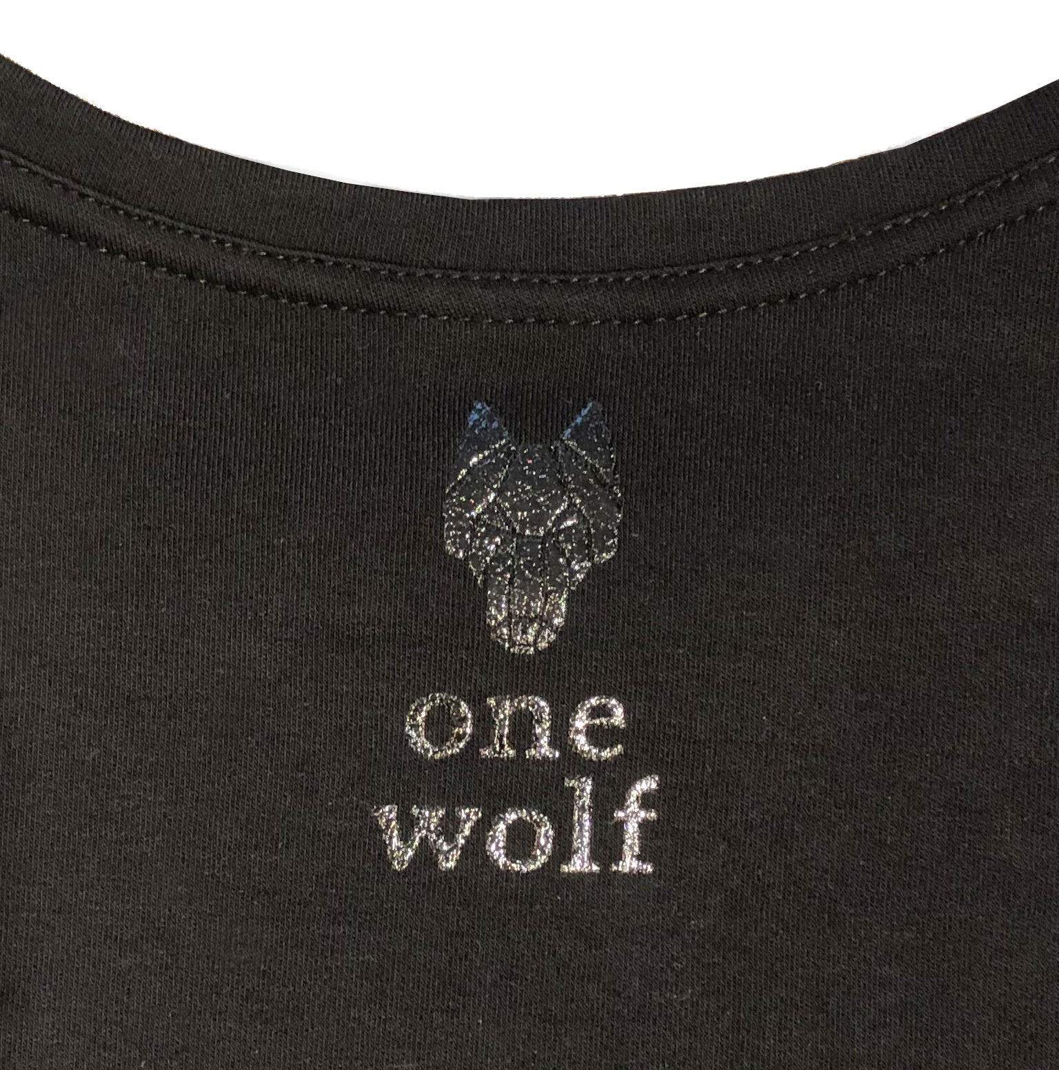 One Wolf long sleeves LOGO T-Shirt black/black gloss
