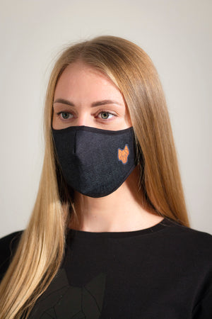 Dark blue ONE WOLF Denim mask