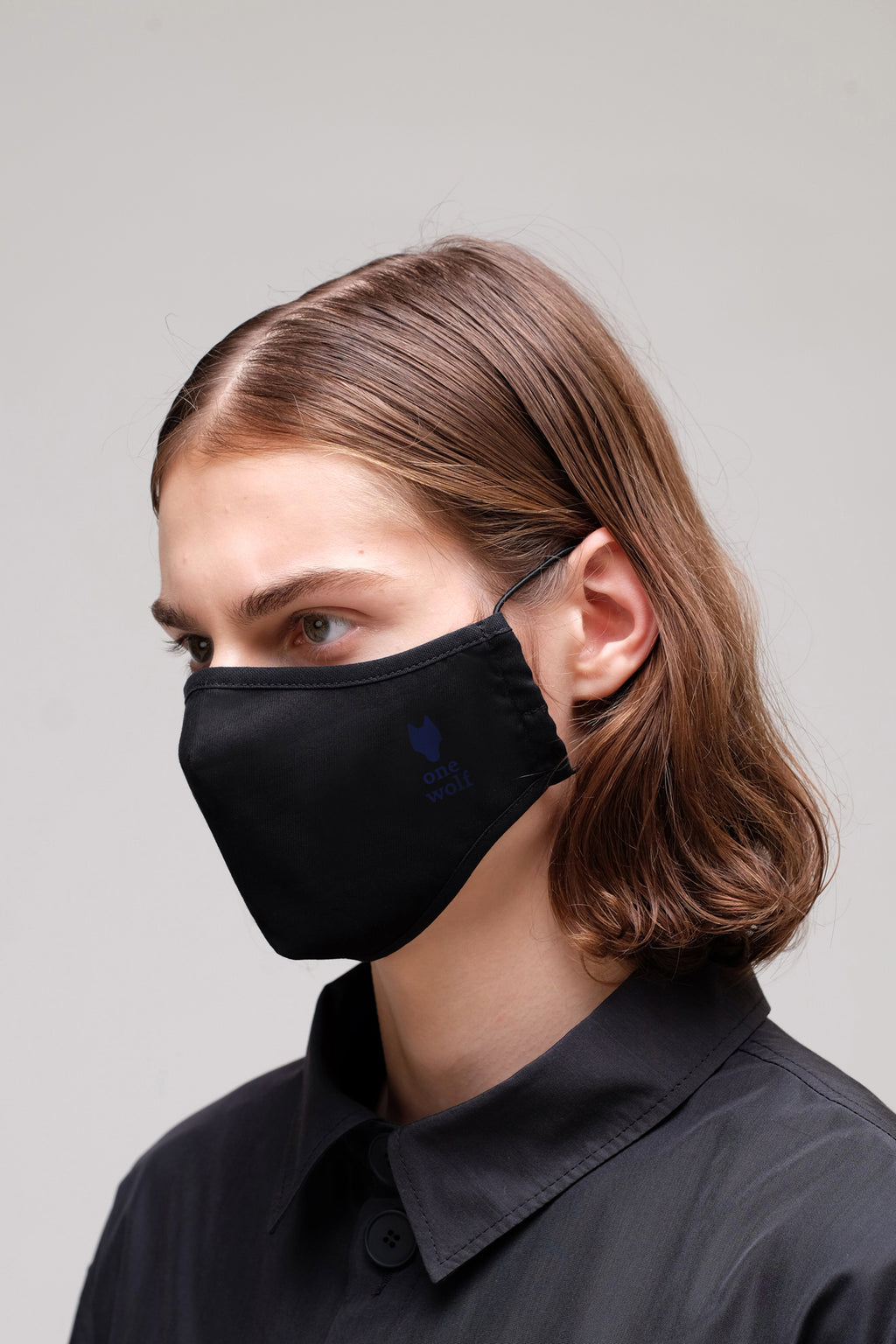 ONE WOLF INDIGO LOGO facewear mask