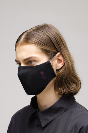 ONE WOLF PURPLE LOGO facewear mask