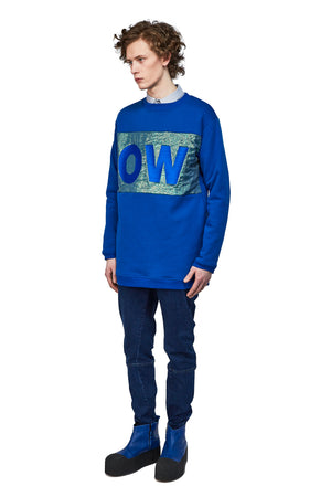 Sweater OBSERVER blue - One Wolf