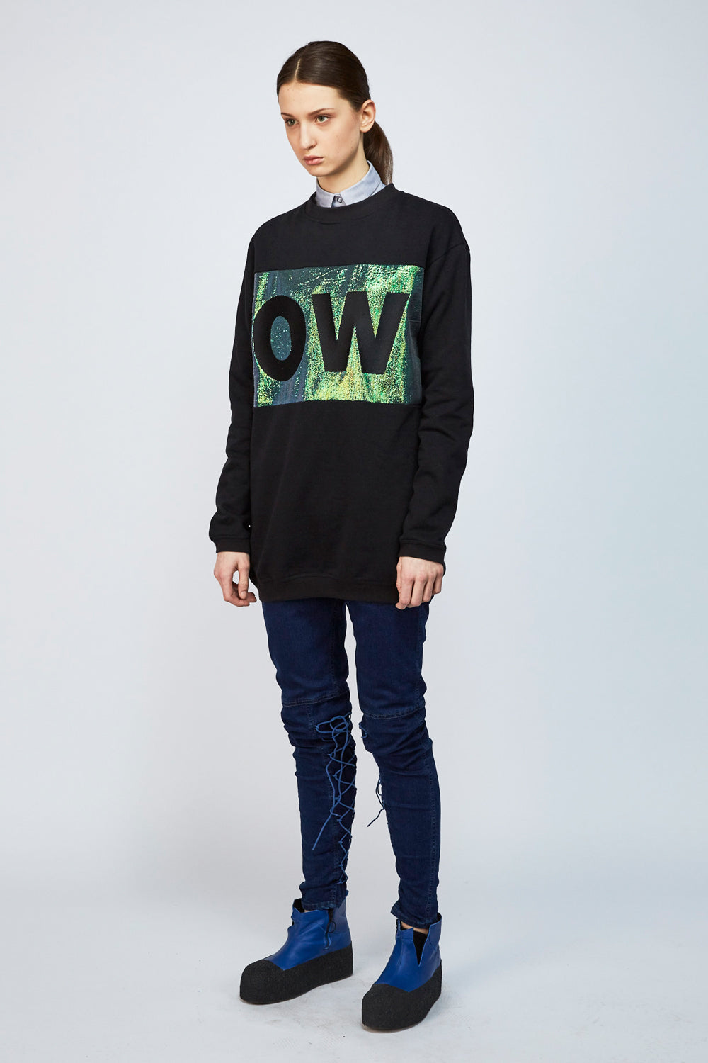 Sweater OBSERVER black - One Wolf