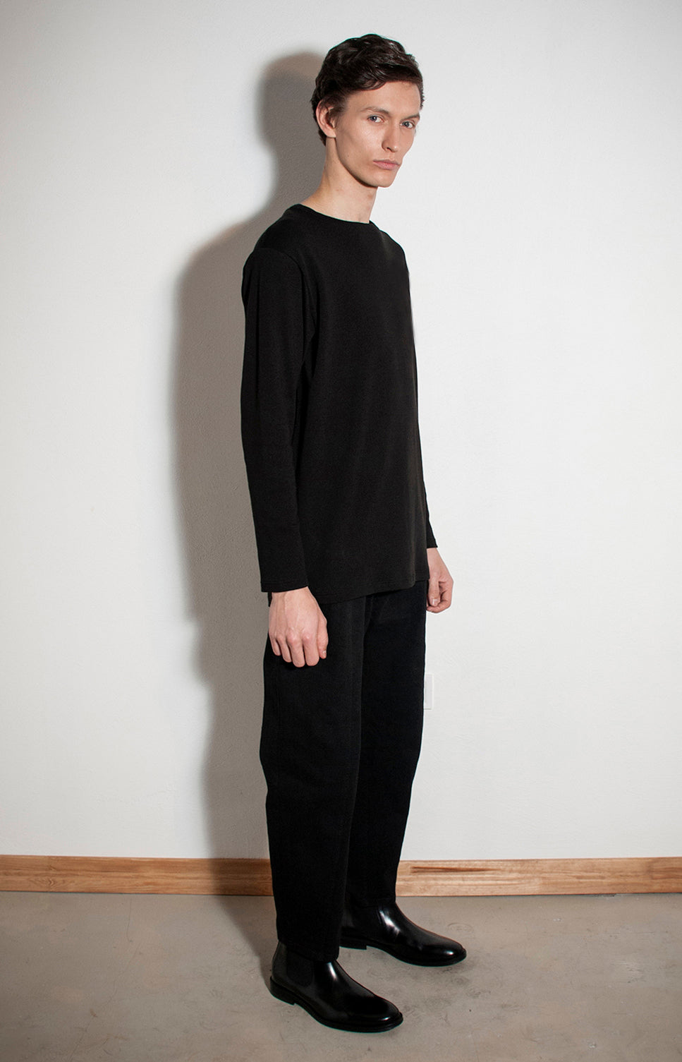 Plain long sleeves T-Shirt Black - One Wolf