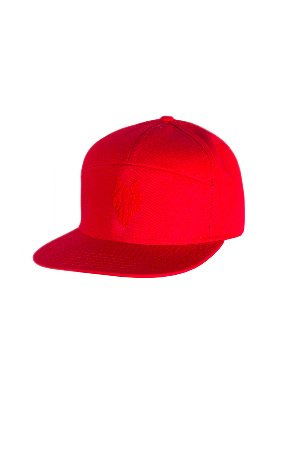 One Wolf Logo Baseball Cap, red