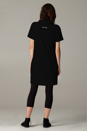short WASTE dress black - One Wolf