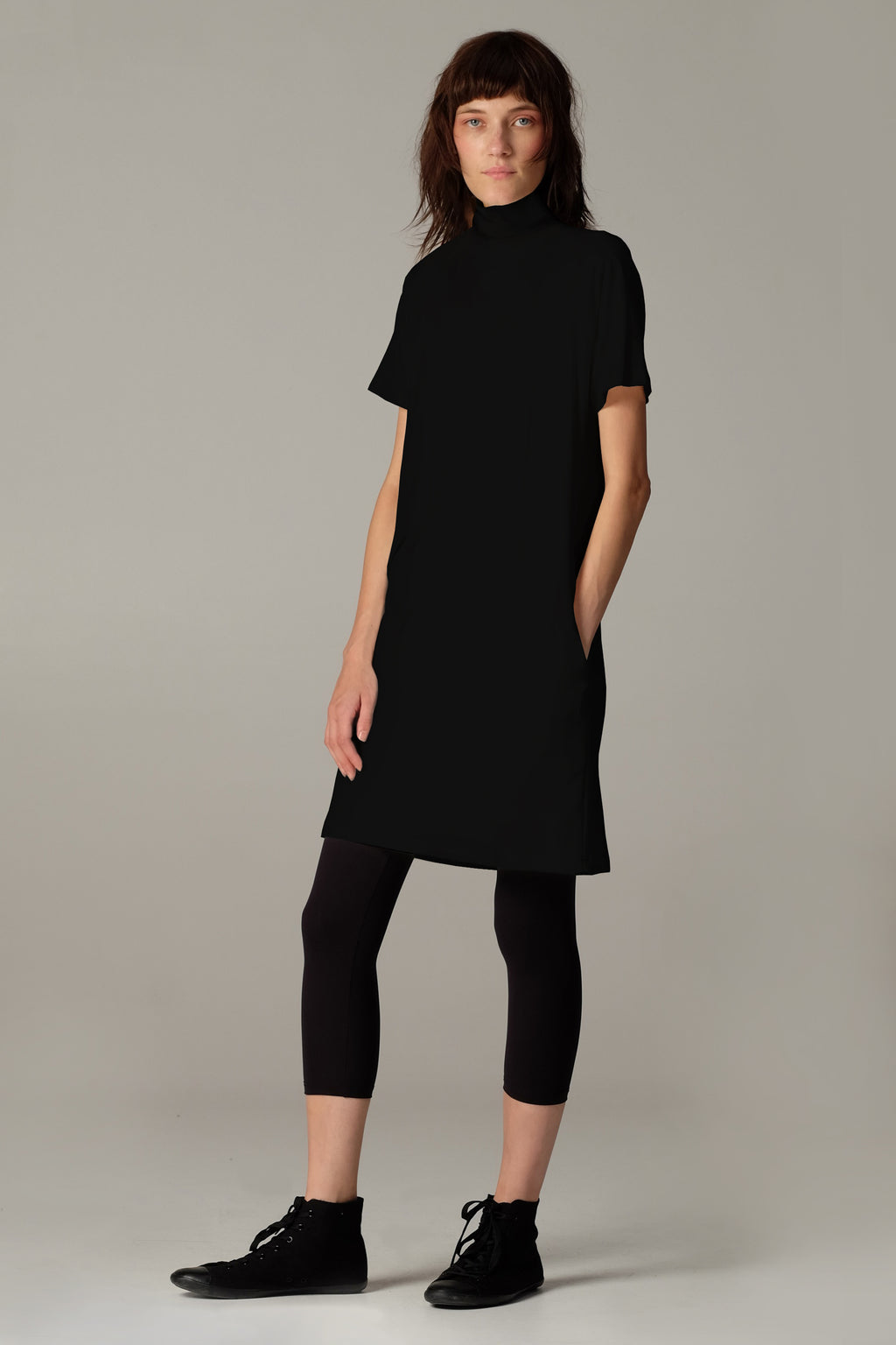 WASTE dress short black - One Wolf
