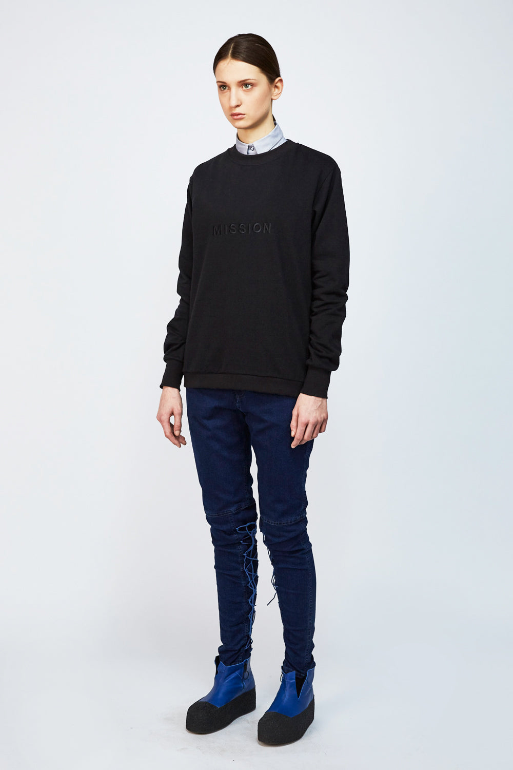 Unisex Sweater MISSION - One Wolf