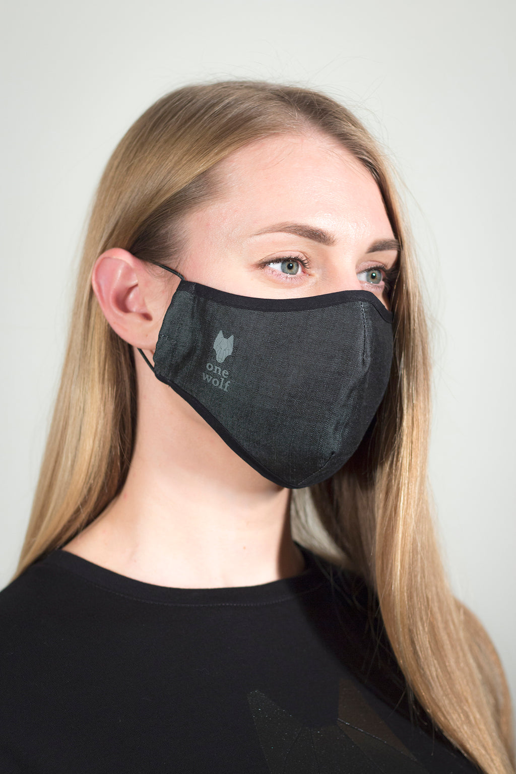 ONE WOLF LOGO TENCEL facewear mask