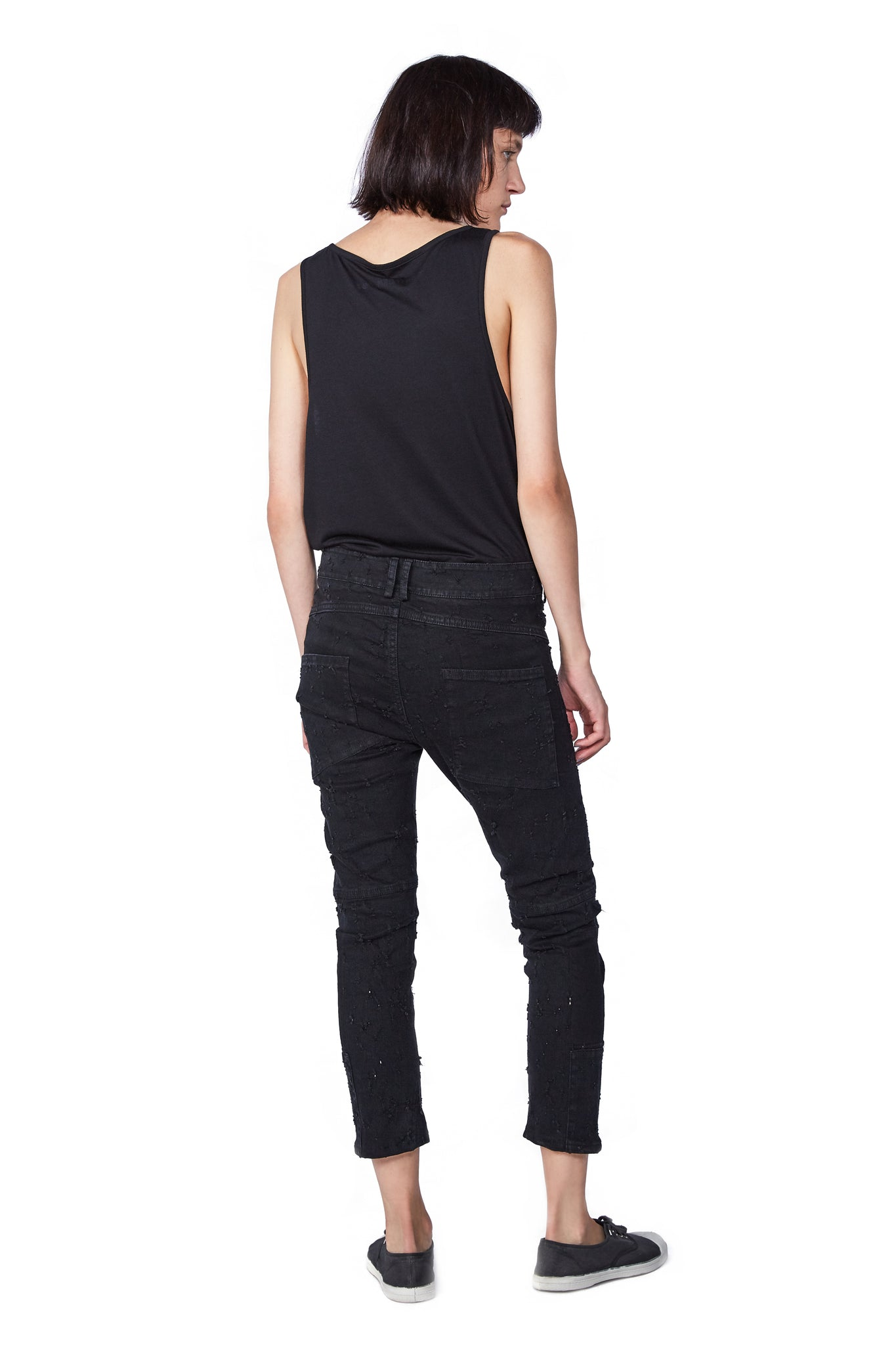 HOLEY Jeans Black - One Wolf