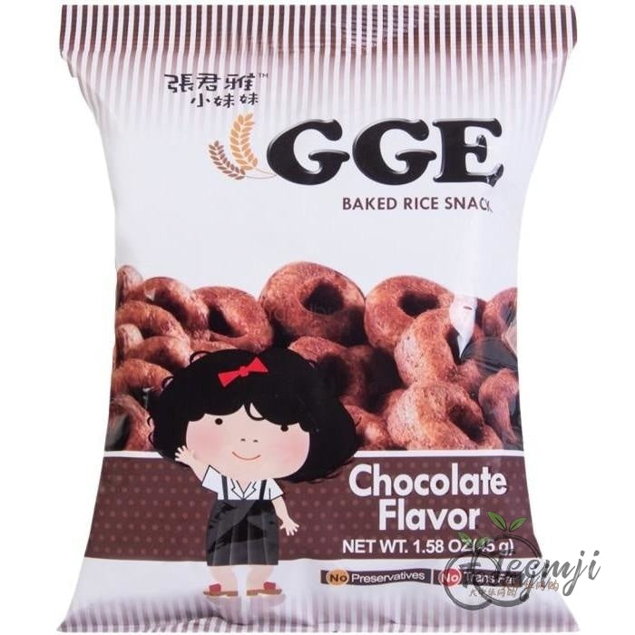Gge Backed Rice Snack Chocolate Flavor 45G Snacks