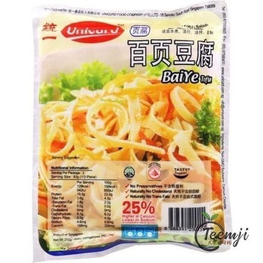 Unicurd Baiye Tofu 250G Fresh Products